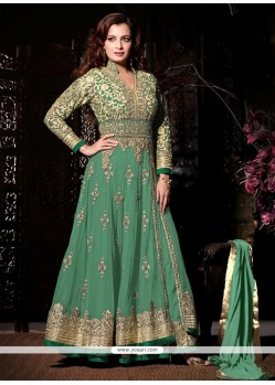 Vivid Embroidered Work Anarkali Salwar Kameez