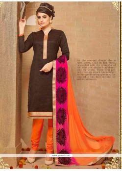 Precious Brown Churidar Salwar Kameez