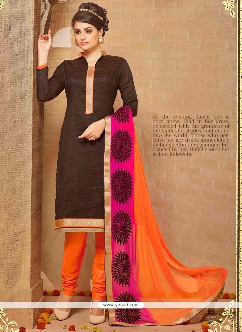Precious Brown Churidar Salwar Kameez
