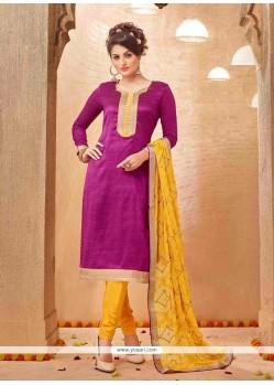 Praiseworthy Banarasi Silk Churidar Salwar Suit