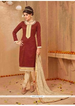 Elegant Maroon Churidar Salwar Kameez