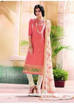 Imposing Chanderi Churidar Designer Suit