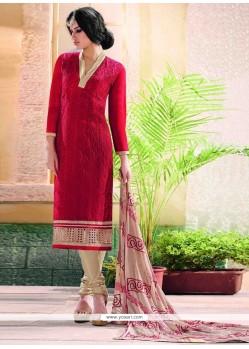 Brilliant Chanderi Churidar Designer Suit
