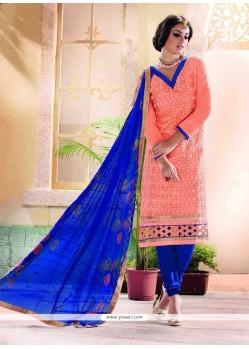 Aesthetic Chanderi Churidar Designer Suit