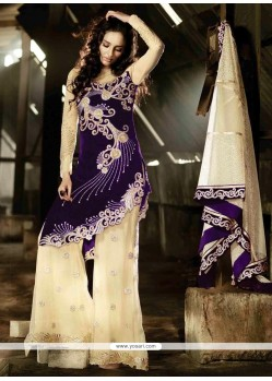 Scintillating Purple Designer Suit