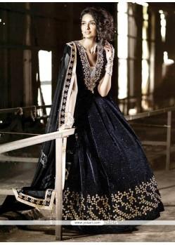 Perfervid Velvet Anarkali Salwar Kameez