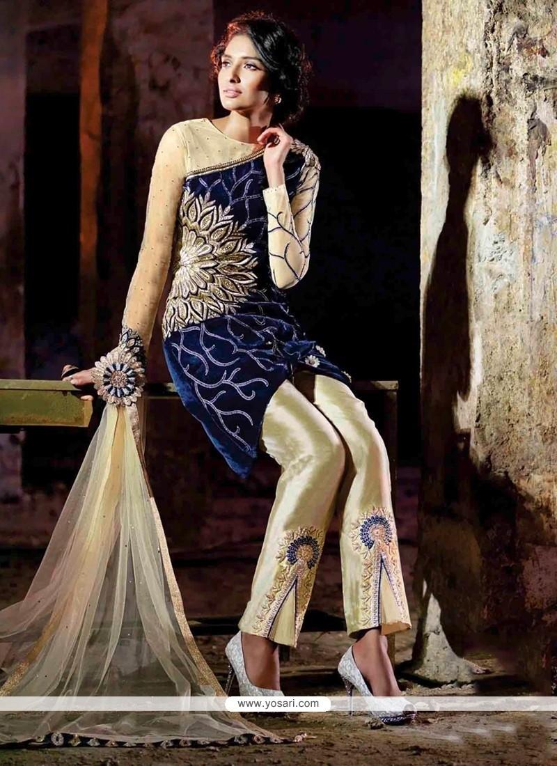 Blue Velvet Designer Suit