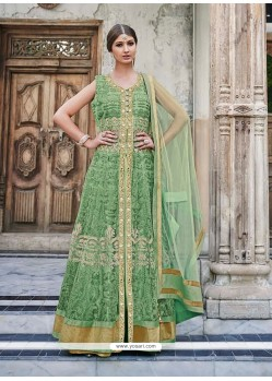 Incredible Resham Work Net Anarkali Salwar Kameez