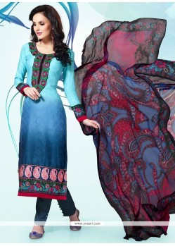 Irresistible Blue Churidar Designer Suit