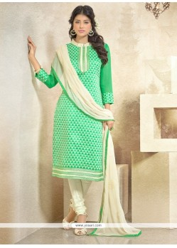 Glowing Chanderi Churidar Designer Suit