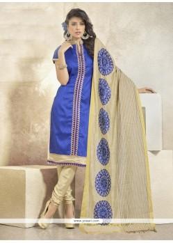 Sumptuous Banglori Silk Lace Work Churidar Designer Suit