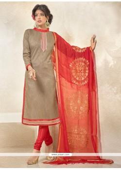 Competent Banglori Silk Red Churidar Designer Suit