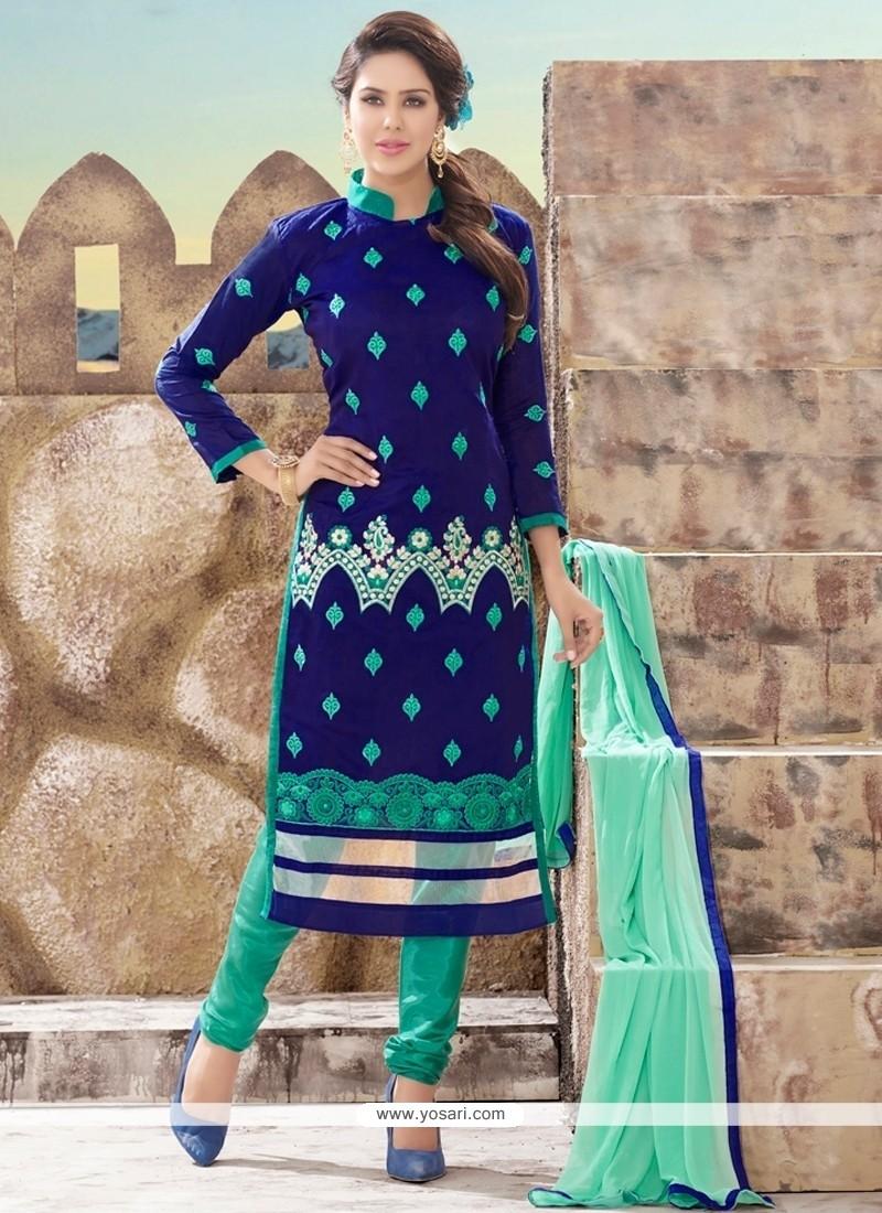 Dazzling Chanderi Churidar Designer Suit