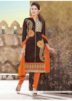 Charming Chanderi Lace Work Churidar Designer Suit