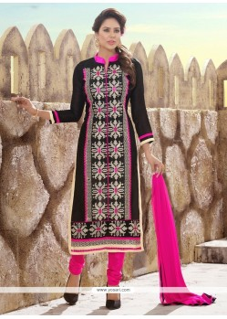 Innovative Black Churidar Designer Suit