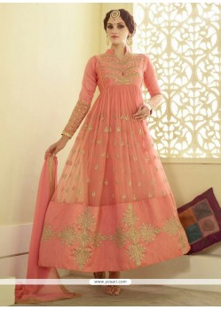 Specialised Silk Resham Work Anarkali Salwar Kameez