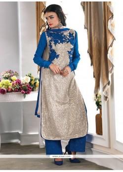 Especial Resham Work Net Designer Palazzo Salwar Kameez