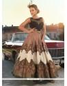 Blissful Raw Silk Sequins Work Anarkali Salwar Kameez