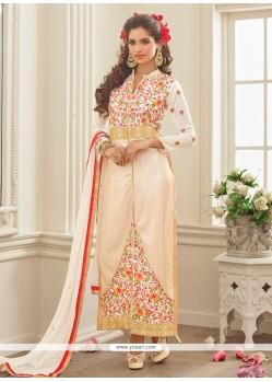 Hypnotizing Georgette Designer Straight Salwar Suit