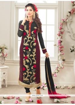 Especial Georgette Lace Work Designer Straight Salwar Kameez
