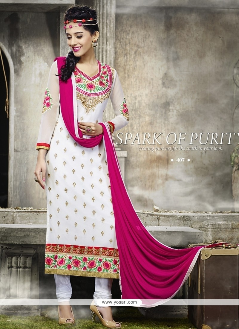 Superlative Zari Work Designer Straight Salwar Suit