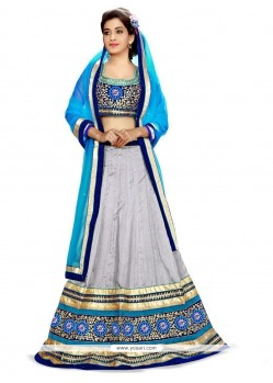 Genius Embroidered Work A Line Lehenga Choli