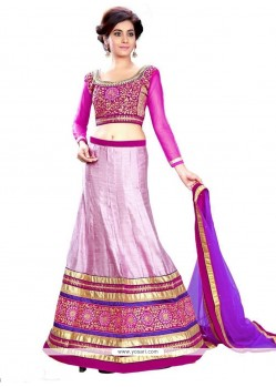 Flawless Embroidered Work A Line Lehenga Choli