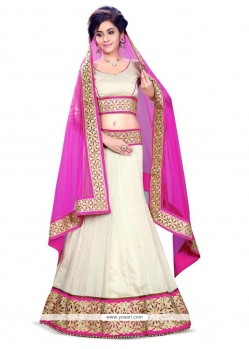 Transcendent Georgette Embroidered Work A Line Lehenga Choli