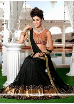 Catchy Black Net A Line Lehenga Choli