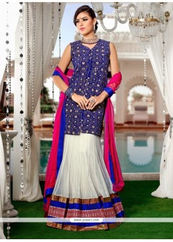 Angelic Net Embroidered Work A Line Lehenga Choli