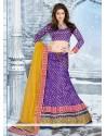 Purple Jacquard Net Designer Lehenga Choli