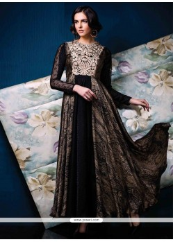 Distinctive Jacquard Print Work Designer Gown
