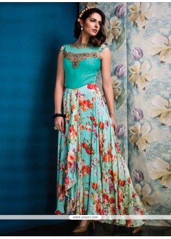 Modish Raw Silk Designer Gown