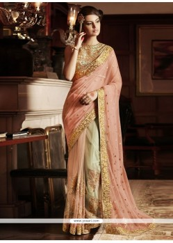Auspicious Embroidered Work Designer Saree
