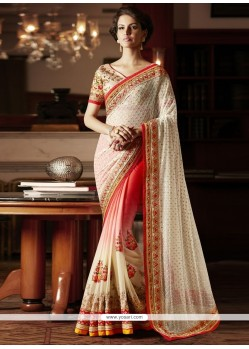Piquant Net Embroidered Work Designer Saree