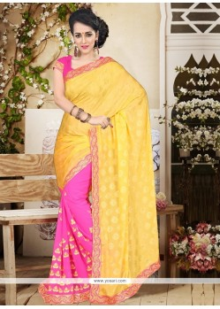 Fashionable Faux Chiffon Designer Saree
