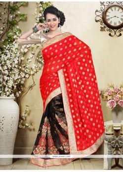 Precious Georgette Red Designer Saree