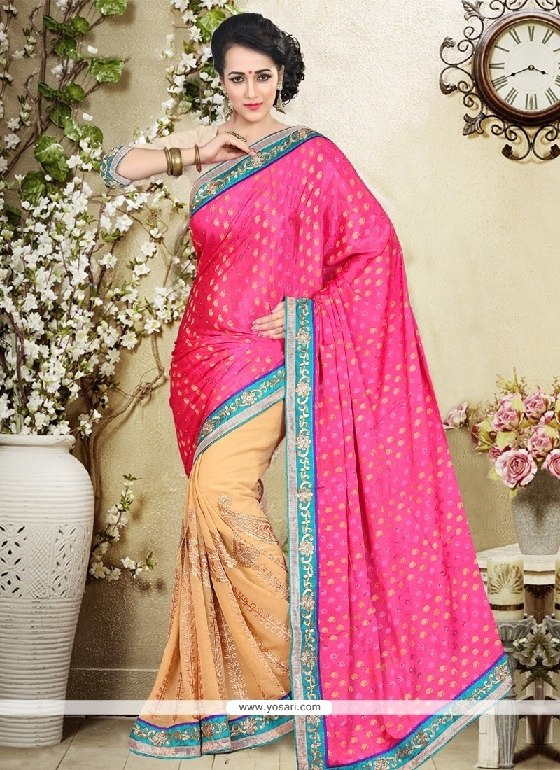Topnotch Chiffon Satin Designer Saree