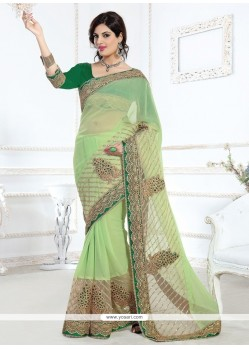 Conspicuous Net Embroidered Work Designer Saree