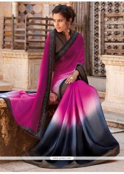 Competent Grey Designer Saree