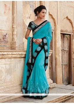 Immaculate Georgette Resham Work Designer Saree