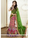 Preety Pink Shaded Stone Work Net Lehenga Choli