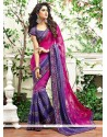 Glitzy Patch Border Work Designer Saree