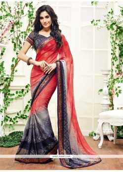 Fetching Brasso Patch Border Work Designer Saree