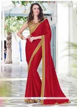 Sterling Red Designer Saree