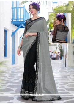 Resplendent Embroidered Work Designer Saree