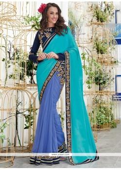 Specialised Chiffon Satin Designer Saree