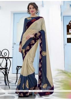 Lavish Lycra Embroidered Work Designer Saree