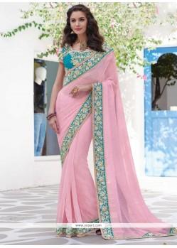 Imposing Pink Designer Saree