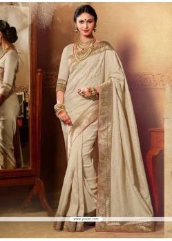 Entrancing Silk Patch Border Work Designer Saree